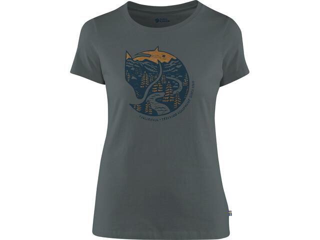 Fjällräven Arctic Fox Print T-Shirt Women dusk